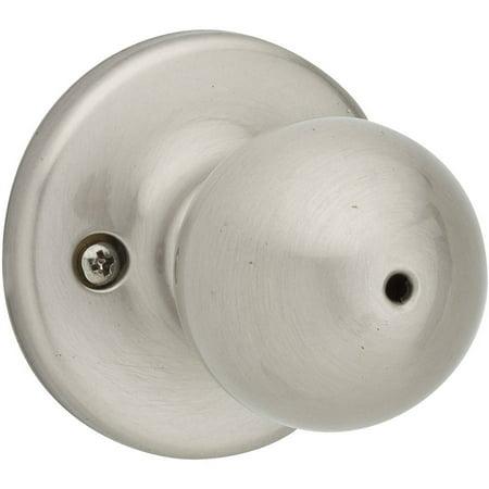 Kwikset 93001-357 Satin Nickel Polo Privacy Lock Door Knob