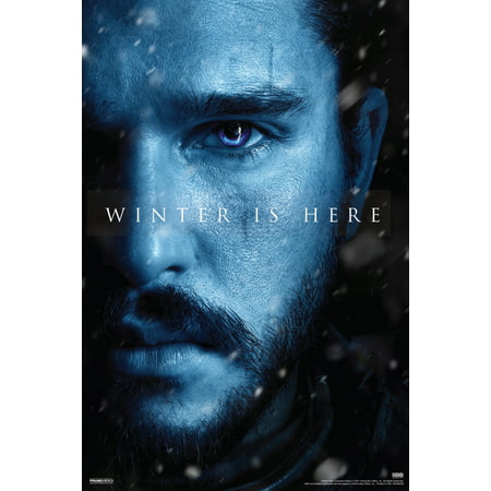 Game Of Thrones Season 7 Jon Snow Winter Is Here Tv Show Poster 12X18 Inch