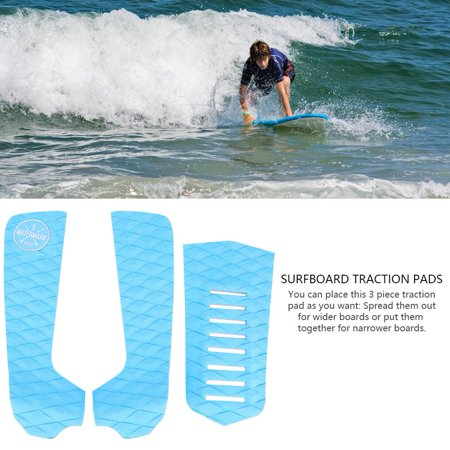 HURRISE Surfing Deck Grip Accessories,3pcs EVA Anti-slip Surfboard Traction Pads Tail Pad Surfing Sports Accessories ()