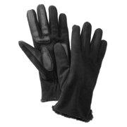 Isotoner Smart Touch  Womens Black Fleece Smartouch Texting Gloves