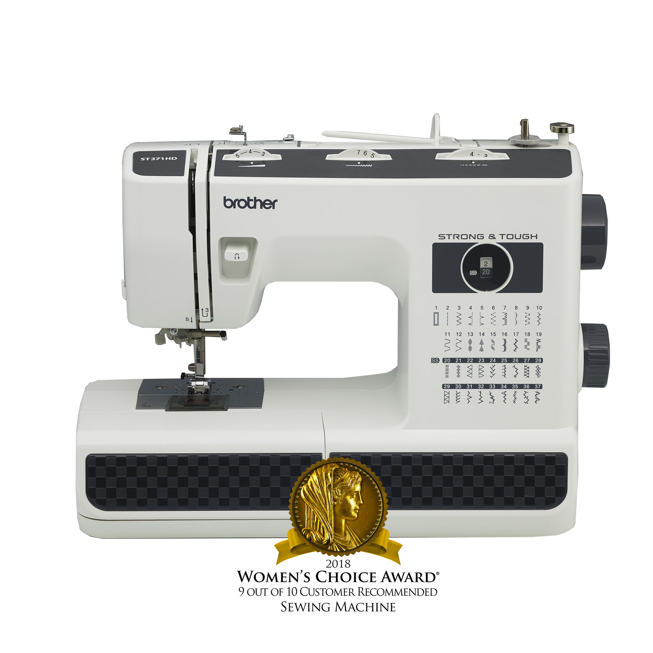 11a3d48bc Brother ST371HD Strong & Tough Sewing Machine, 37 Built-In Stitches,  Heavyweight Needles, 6 Quick-Change Sewing Feet, 1 Each - Walmart.com