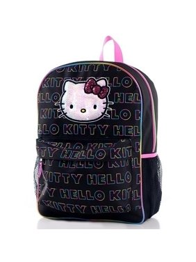 cca12c3df0db Product Image Hello Kitty Backpack - Black with Multi Color Logo Print