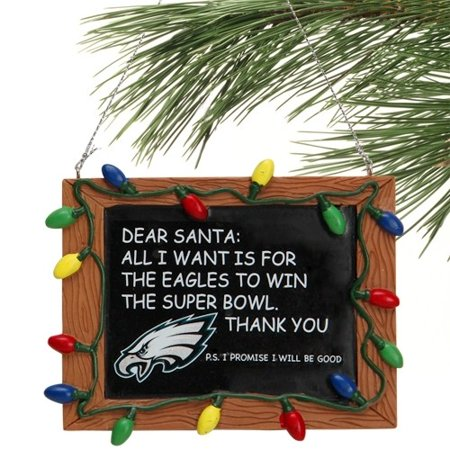 Philadelphia Eagles Official NFL 3 inch x 4 inch Chalkboard Sign Christmas  Ornament by Forever Collectibles - Walmart.com ee49efd12