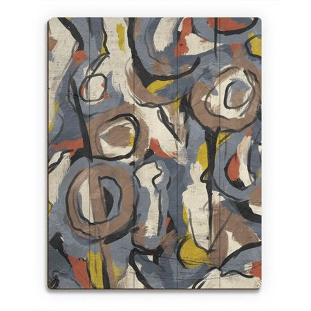 Scribble Scrabble Paper - Click Wall Art 'Scribble Scrabble' Painting Print on Wood