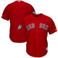Men's Majestic Scarlet Boston Red Sox 2018 Spring Training Cool Base Team Jersey