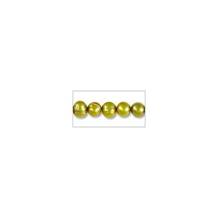 Freshwater Potato Pearl Verde Gold 5-6mm (16