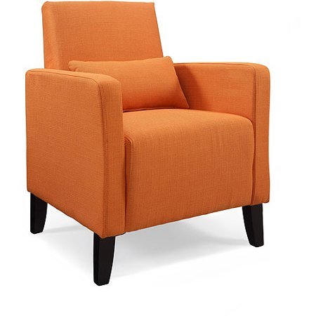 upholstered accent chair with pillow multiple colors