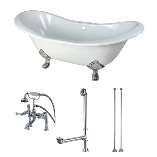 Kingston Brass 72'' x 31'' Clawfoot Soaking Bathtub