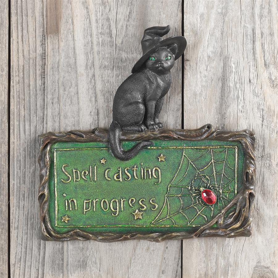 Witch's Cat, Spell-Casting Wall Sculpture