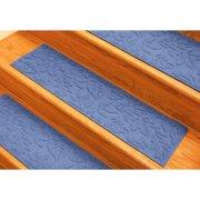 Tucker Murphy Pet Beaupre Medium Blue Fall Day Stair Tread (Set of 4)