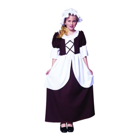 Small Colonial Girl Dress - Brown - Colonial Dress