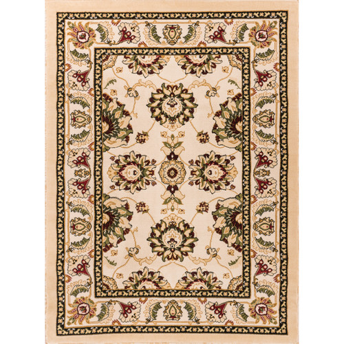 "Comfy Living Classic Ivory / Beige Living Room Area Rug, 2'7"" x 3'11"""