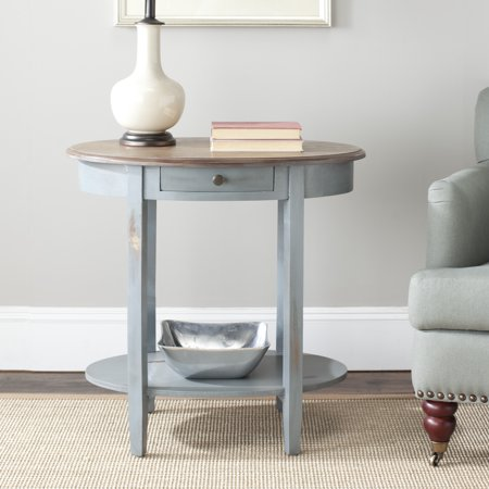 Safavieh Monica Oval End Table (Oak Oval Extension Table)