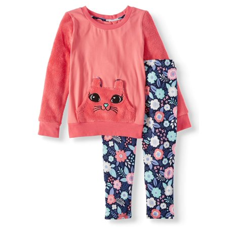 Bunny Girl Set (Embroidered Bunny Tunic and Printed Legging, 2-Piece Outfit Set (Little)