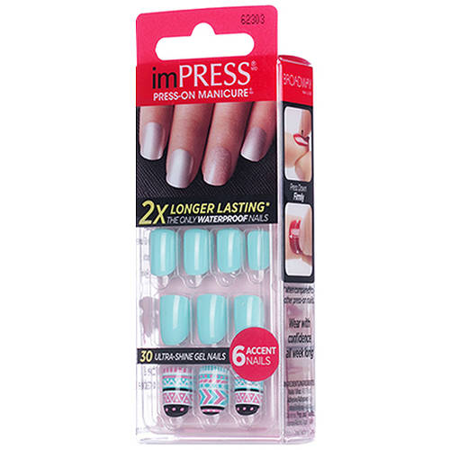 Broadway Impress Gel Nails, Bells & Whistles, 36 count