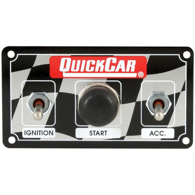 Quickcar Racing Products 50-052 Dash Mount Switch Panel 3-3//8 in x 4-1//4 in