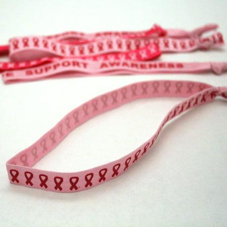 Pink Ribbon Nylon Headbands - Walmart.com ea9d1a20aad