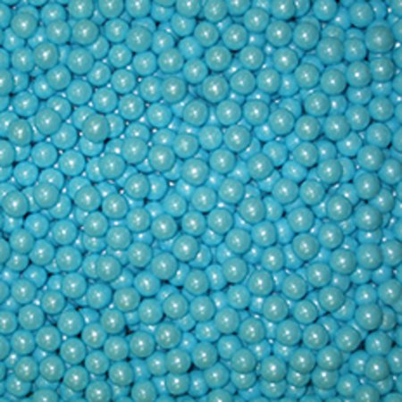 Candy Powder Coating - Sugar Pearls - Candies - Shimmer - 4mm POWDER BLUE - 4 oz.