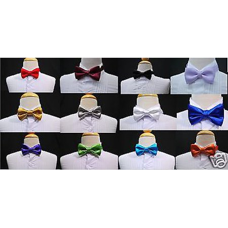 14 Colors Selection Satin bow Tie for Infant, Toddler & Boys Formal Tuxedo Suit Satin Tuxedo Bow Tie