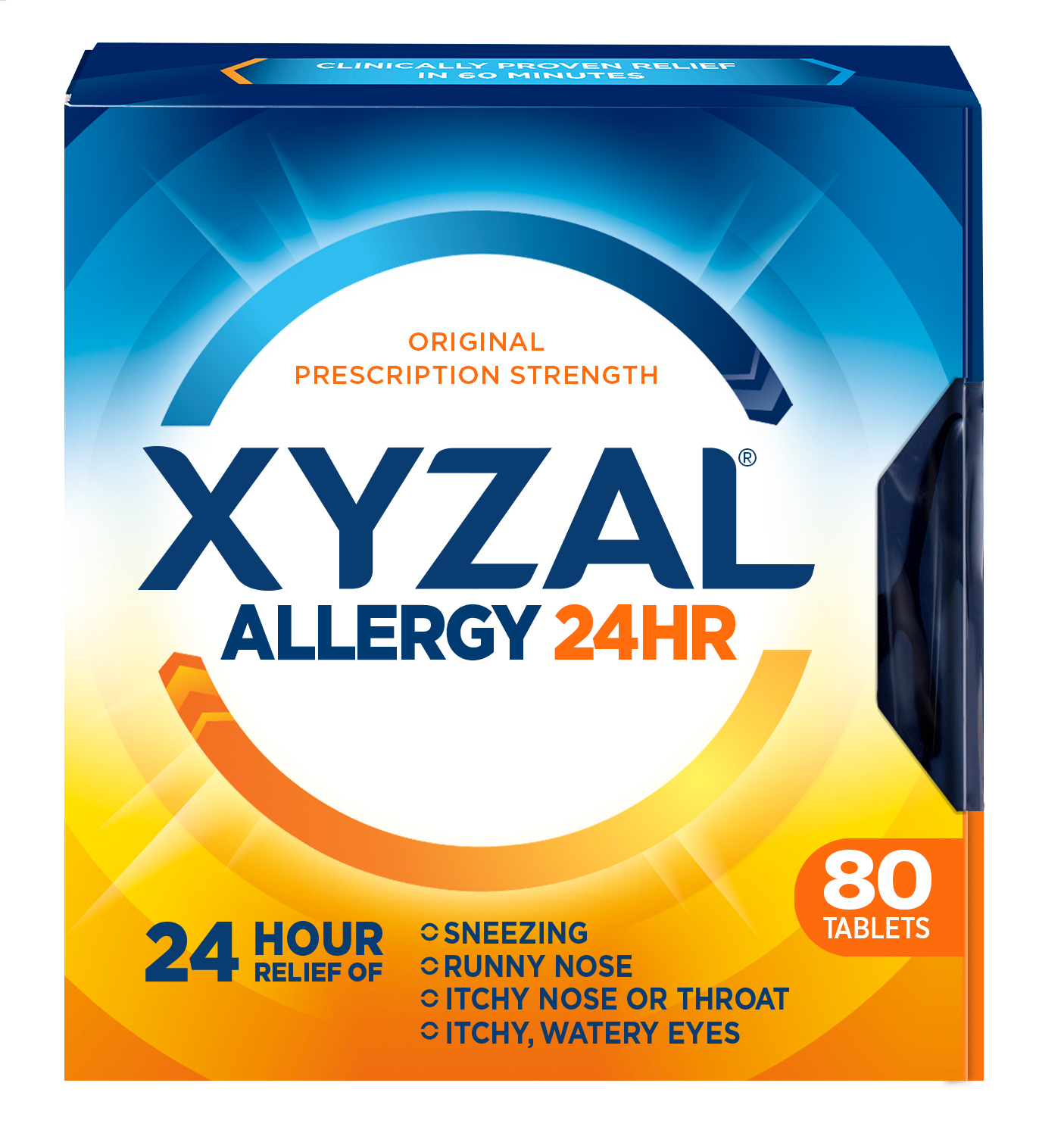 Xyzal 24 Hour Allergy Relief Tablets, 80ct