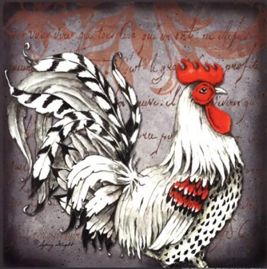 Rooster I Poster Print by Sydney Wright (12 x 12)