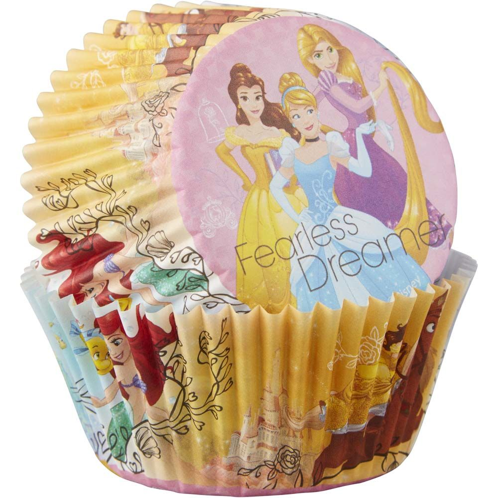Disney Princess 50 Baking Cups Party Cupcakes Liners Cinderella Rapunzel Belle Ariel
