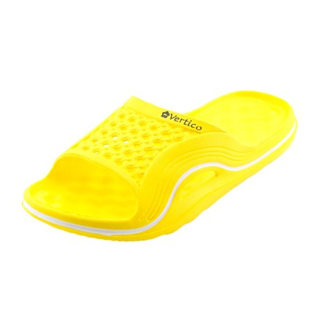 Vertico Yellow Slide-On Women's Shower - Yellow Dress Sandals