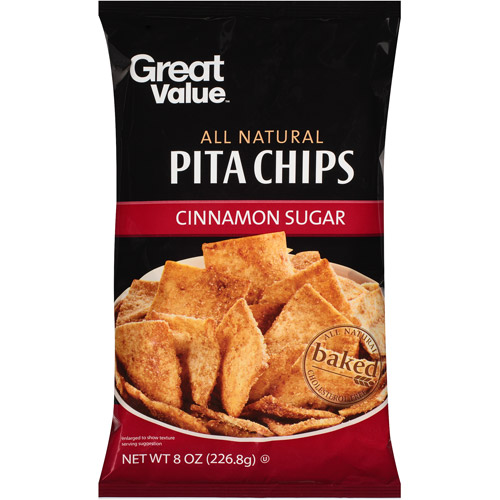Great Value Cinnamon Sugar All Natural Pita Chips, 8 oz