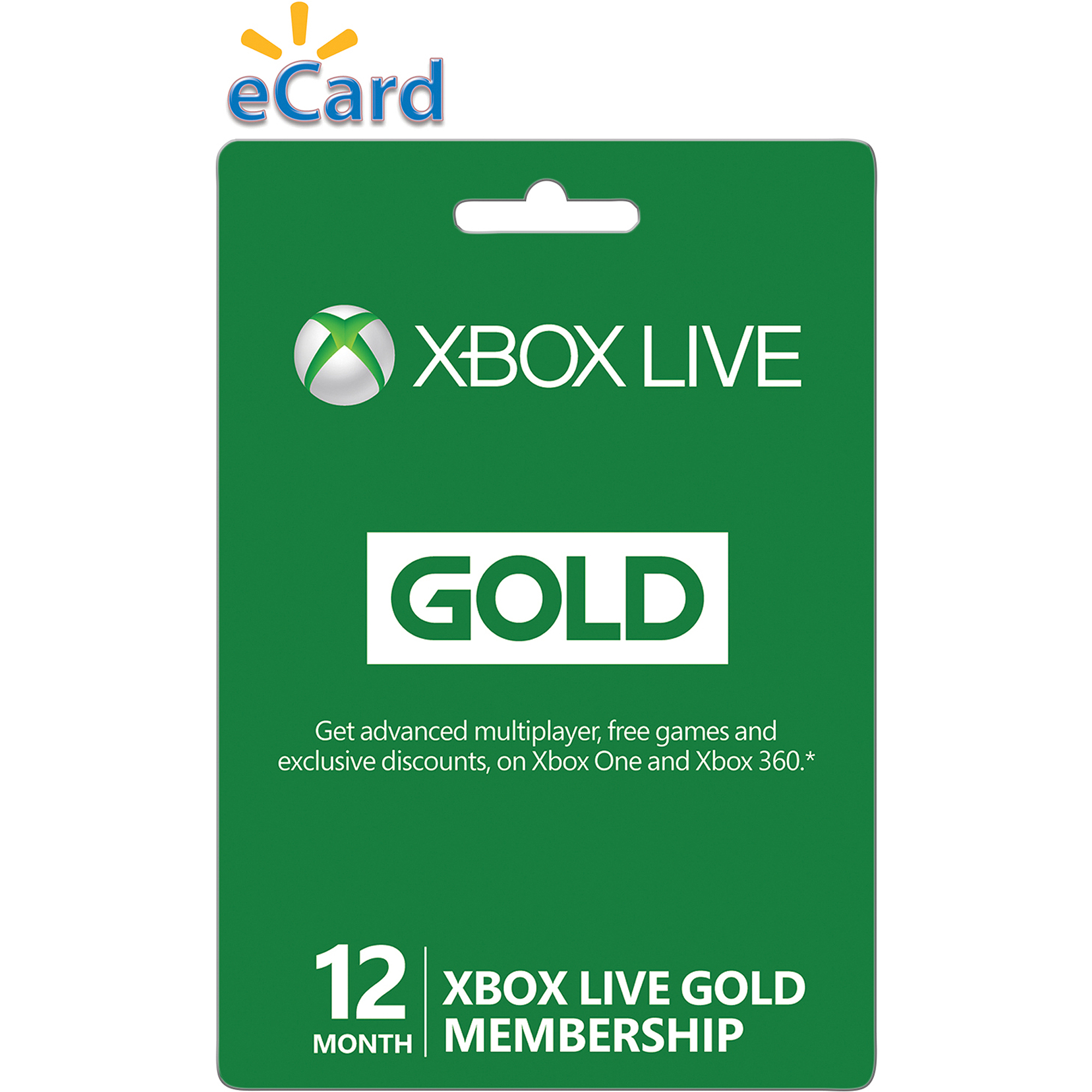 Xbox Live 12 Month Gold Membership (emai
