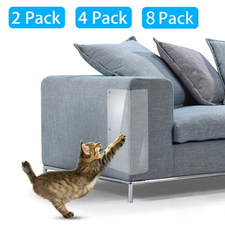 Pet Cat Scratch Furniture Protector, TSV 18.5x5.9in Clear Flexible Protector Dog Cat Claw Guards with Pins for Protecting Your Upholstered Furniture, Stops Scratching Cats Furniture