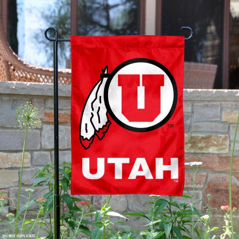 """Utah Utes 13"""" x 18"""" College Garden Flag"""