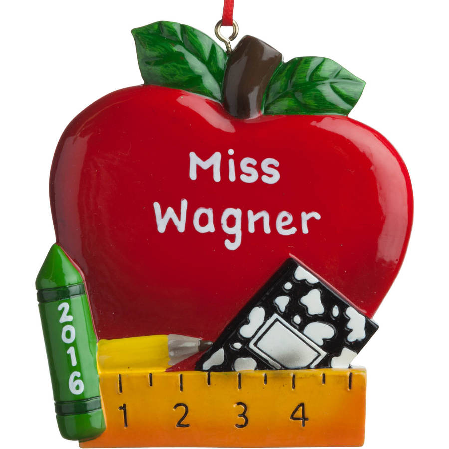 Personalized Christmas Ornament - Red Apple