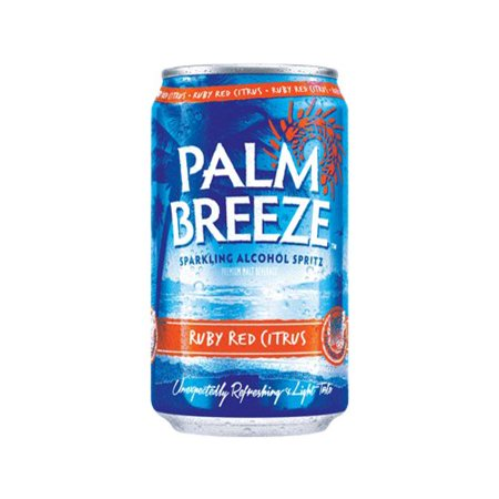 Palm Breeze Ruby Red Citrus Sparkling Alcohol Spritz, 12 fl oz, 24 ...