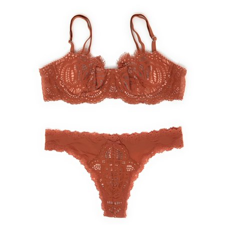 6c3b6049be Victoria s Secret Dream Angels Wicked Uplift Bra and Thong Panty Set -  Walmart.com