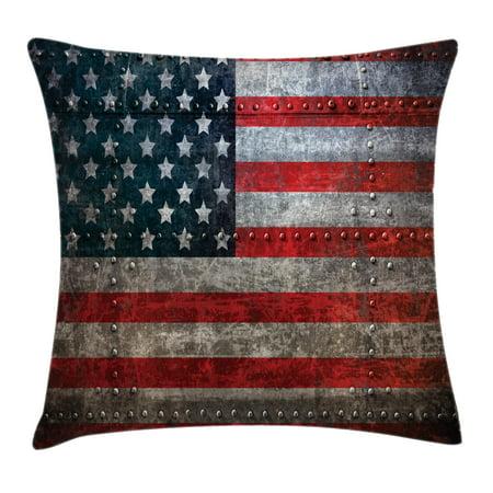 American Flag Decor Throw Pillow Cushion Cover Royalty Flag Fascinating American Flag Decorative Throw Pillow