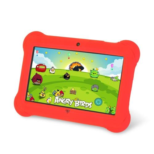 WorryFreeGadgets KIDSZEEPAD-RED 7in Kids Zeepad Quad Core Syst Android 4.4 Bluetooth Mutlitouch