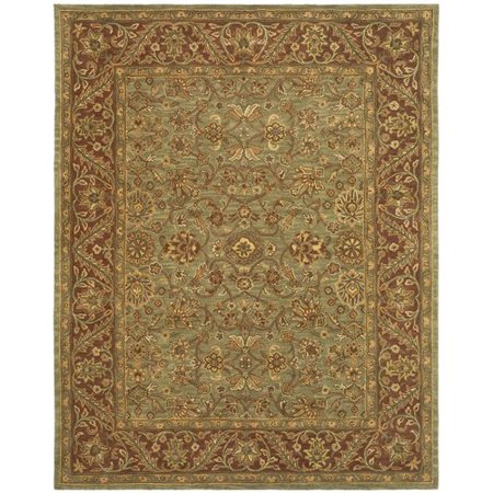 Jaipur Green - Safavieh Jaipur Hand-Tufted Wool Green/Rust Area Rug