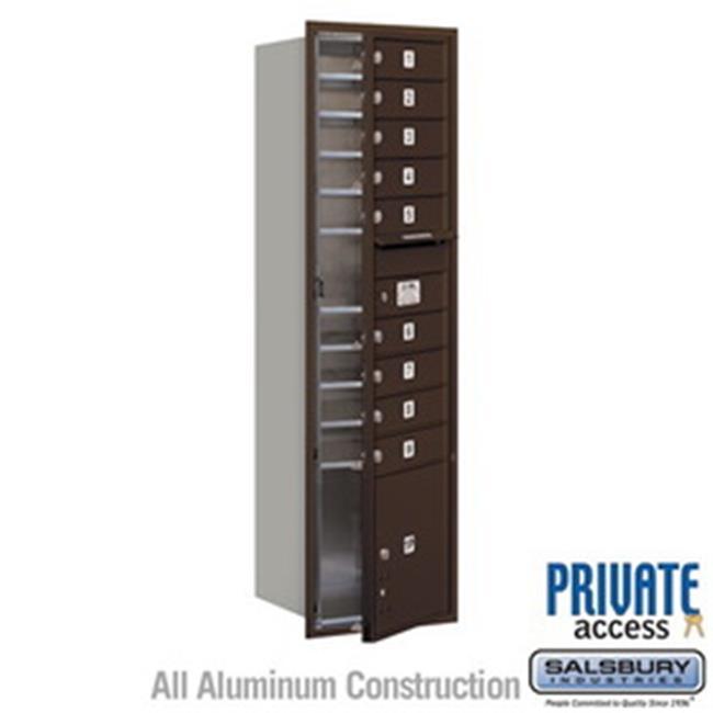 Salsbury Industries 3713S-1CZR 13 Door High Unit 48 in. Rear Access Single Column 4C Horizontal Collection Box, Bronze