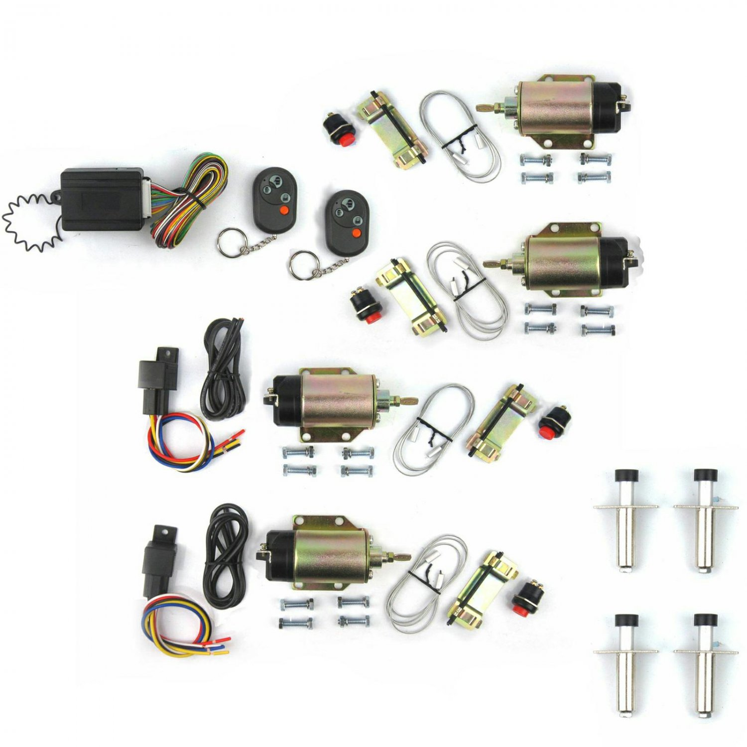 Door Popper Kit Shaved Handle w 8 Function Remote Control 35lb ...