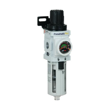 PneumaticPlus PPP2-N02BG Compressed Air Filter Regulator Piggyback Combo 1/4