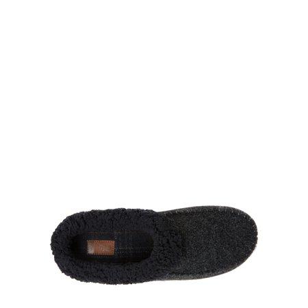 DF by Dearfoams Men's Moccasin Toe Clog Slippers