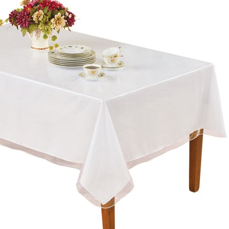 Clear Table Cover And Rectangular Vinyl Tablecloth Protector 60 X