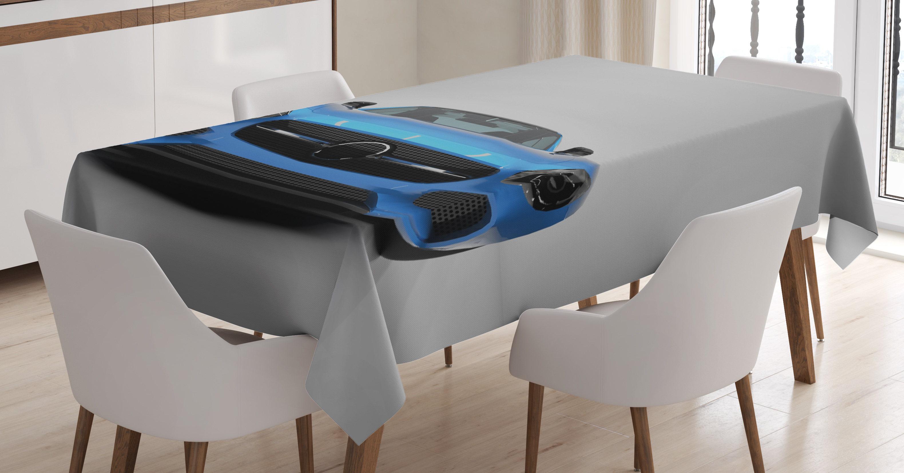superb Walmart Black Tablecloth Part - 16: Teen Room Decor Tablecloth, Sports Car Luxury Symbol for Men Trendy Stylish  Speed Vehicle Image