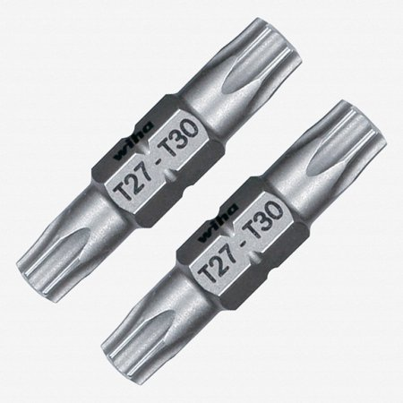 Wiha 77705 T27 + T30 Torx Double End Ultra Bits (2 Pack)