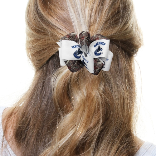 Vancouver Canucks Women's Mary Loop with Mossy Oak Hair Bow - No Size