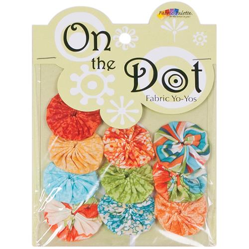 "Fabric Palette On the Dot Yo-Yos 1.5"" 100% Cotton 10/Pkg-Vintage Floral YoYo"