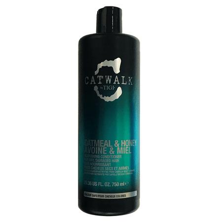Tigi Catwalk Oatmeal & Honey Avoine & Miel Nourishing Conditioner 25.36 Oz, For Dry Damaged Hair