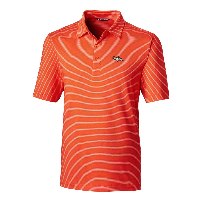Denver Broncos Cutter & Buck Big & Tall Forge Pencil Stripe Polo - Orange
