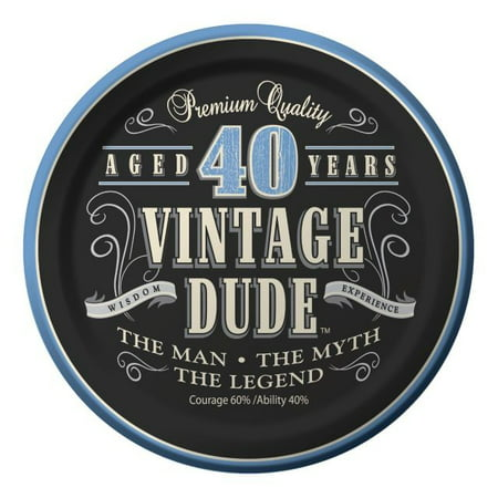 Vintage Dude 40th Cake Plate 7