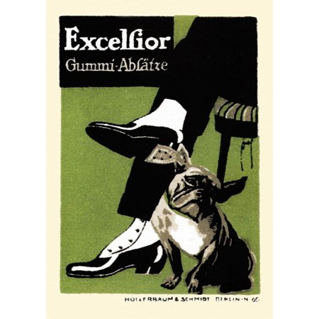 Excelsior Leather heels bulldog with shoes with Spats Poster Print by Excelsior